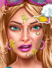 Joaca BARBIE LA TRATAMENT FACIAL
